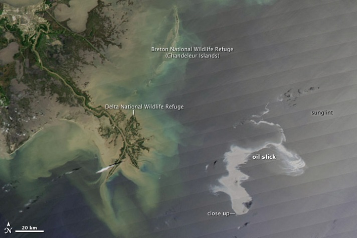 Oil Slick from Space