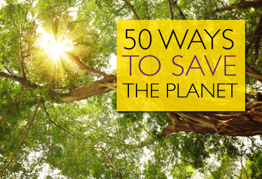 "ways to save environment Helping the environment need not involve such monumental steps as installing solar panels or making room for a 30,000-gallon rainwater cistern ""my kids are really."