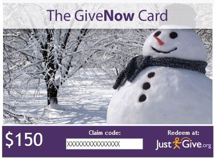 Charity Gift Card for Holiday Gifts