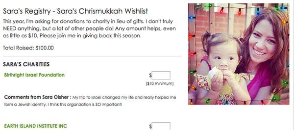 Create a Charity Wishlist
