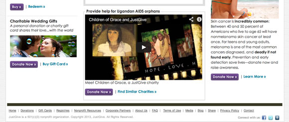 JustGive features video from charities