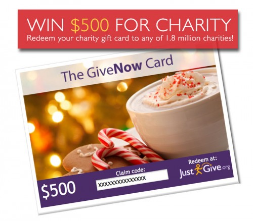 Win a $500 Charity Gift Card
