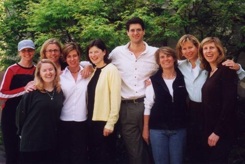 Our founding team in 2000—Lynda Greenberg, Orla McKiernan, Claire Bowen, Kristin Kennedy, Kay Kirman, Doug Abrams, Kendall Webb, Kirsten Johnson, Jen Chapin